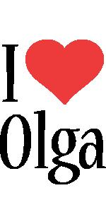 Olga i-love logo