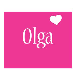 Olga love-heart logo