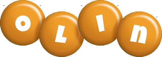 Olin candy-orange logo