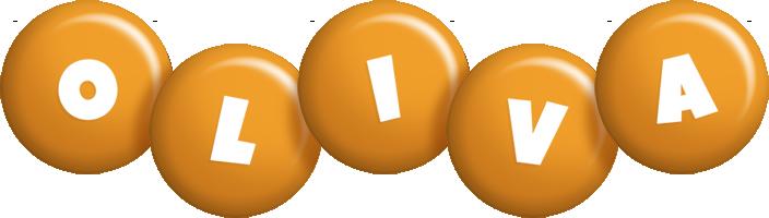 Oliva candy-orange logo