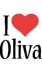 Oliva i-love logo