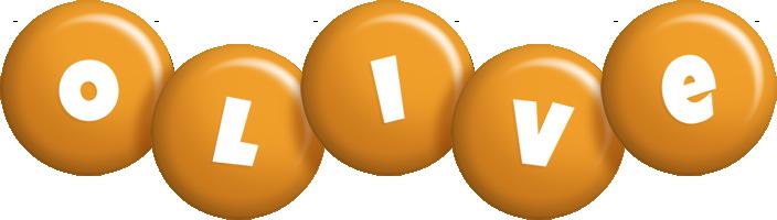 Olive candy-orange logo