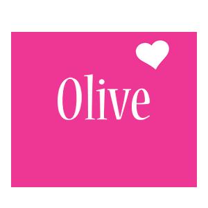Olive love-heart logo