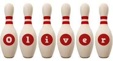 Oliver bowling-pin logo