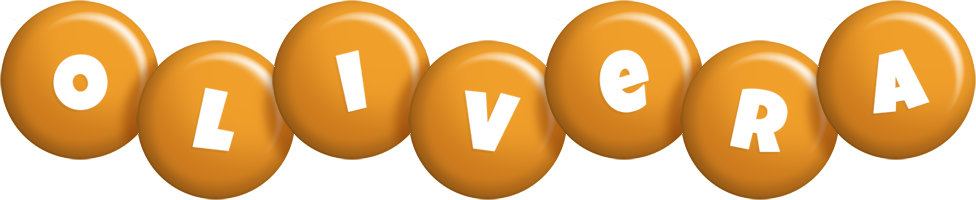 Olivera candy-orange logo
