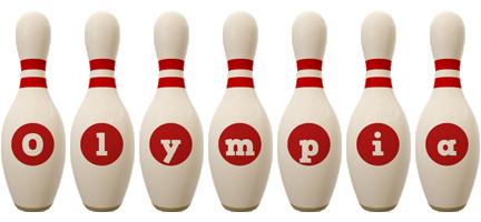 Olympia bowling-pin logo
