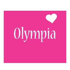 Olympia love-heart logo