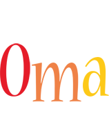 Oma birthday logo