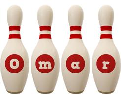 Omar bowling-pin logo
