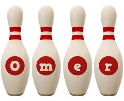 Omer bowling-pin logo