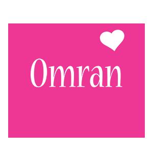 Omran love-heart logo
