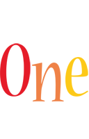 One birthday logo