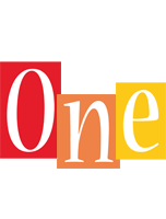 One colors logo