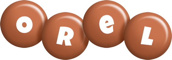 Orel candy-brown logo