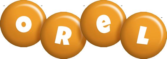 Orel candy-orange logo