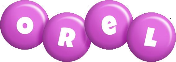 Orel candy-purple logo