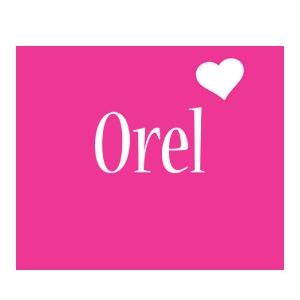 Orel love-heart logo