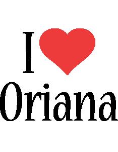 Oriana i-love logo