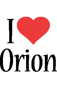 Orion i-love logo