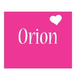 Orion love-heart logo