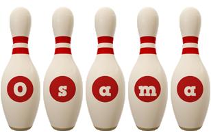 Osama bowling-pin logo