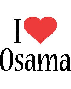 Osama i-love logo