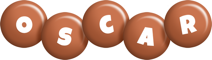 Oscar candy-brown logo