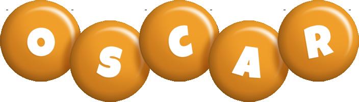 Oscar candy-orange logo