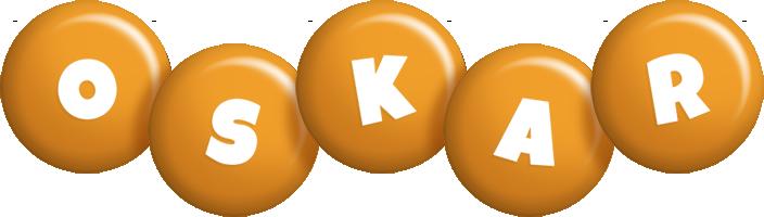 Oskar candy-orange logo