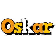 Oskar cartoon logo