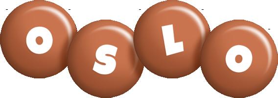 Oslo candy-brown logo
