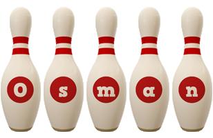 Osman bowling-pin logo
