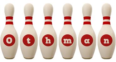 Othman bowling-pin logo