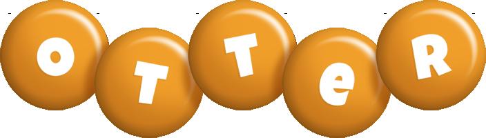 Otter candy-orange logo
