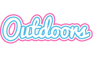 OUTDOORS logo effect. Colorful text effects in various flavors. Customize your own text here: https://www.textGiraffe.com/logos/outdoors/
