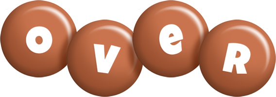 Over candy-brown logo
