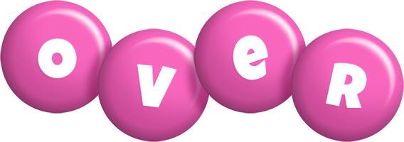 Over candy-pink logo