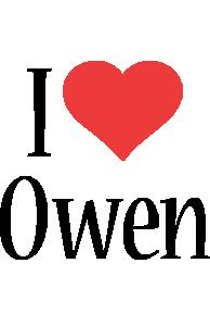 Owen i-love logo