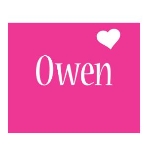 Owen love-heart logo