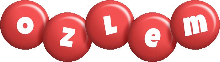 Ozlem candy-red logo