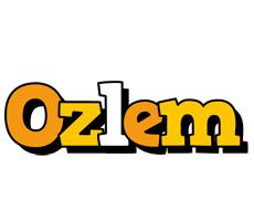 Ozlem cartoon logo
