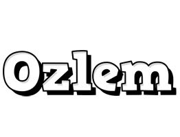 Ozlem snowing logo