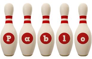 Pablo bowling-pin logo
