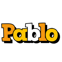 Pablo cartoon logo