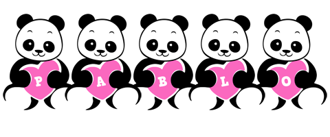Pablo love-panda logo