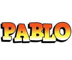 Pablo sunset logo