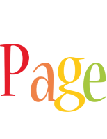 Page birthday logo