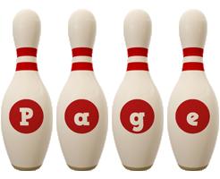 Page bowling-pin logo