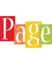 Page colors logo