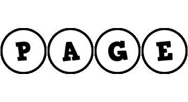 Page handy logo